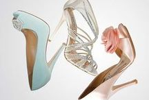 Bridal Shoes / You can tell a lot about a bride by her choice in wedding shoes.