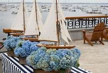 Color Palette: Navy Blue / Find navy blue inspiration for your wedding fashion, flowers, wedding cake and more!