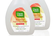 CleanWell Botanical Fabric Deodorizer / Don't hide odors, eliminate them safely. CleanWell Fabric Deodorizer eliminates odors caused by bacteria, freshening fabric, carpet & air. Perfect for sofas, carpet, curtains, pet area, gym bags and shoes, automobiles, laundry bags & more.