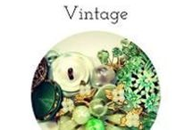 """Vintage Inspired Jewelry / Love the """"feel"""" of vintage jewelry? These are like out of grandma's jewelry box but remade for today's styles! See handmade vintage inspired  jewelry, upcycled vintage jewelry, statement necklaces, pendants, dangle earrings from BluKatDesign on Etsy"""