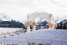 Winter Weddings / Glittering white snow, cool blue ice - bring the beauty of winter to your wedding celebration with these ideas.