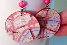 Maps / maps, upcycling, crafting and decor