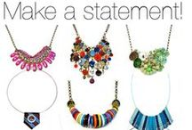 Handmade Statement Necklaces, Original One-of-a-Kind by BluKatDesign Jewelry / Want to make a statement? Find unique one-of-a-kind handmade statement necklaces  by BluKatDesign on Etsy. You will not see these anywhere else. Perfect for your original, bold, colorful style!