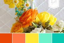 Ideas de Colores para Combinar Scrapbooking / Combinaciones de colores y color combos para diseñar tus proyectos con preciosos y brillantes colores. ¿Qué colores combinan entre sí?