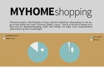 Infographics / Collection of infographics: social media, trends, home deco, marketing