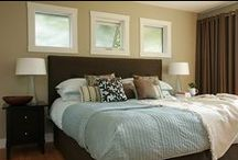 brown and blue bedroom / by Deana McGarr