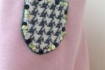 Embroidery with Pearls, Sequins, Rhinestones / Stickerei mit Perlen, Pailletten und Strass