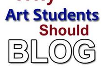 Art Student Blogs/Websites / Resources to be used when helping students create their own blog/website to be used as a digital portfolio of their work.