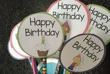 parties / party planning tips, printable decorations, themes, food, treats, favors, and more.