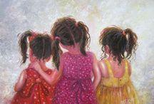 ~My Three Girls~ / Childhood memories of my daughters.