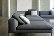 grey, concrete and chrome