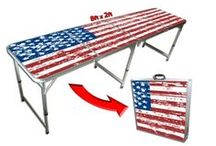 Patriotic Beer Pong Tables / Check out our American Flag tables and other patriotic beer pong tables. / by Skip's Garage