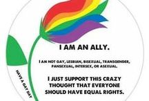 Ally / I am a straight LGBTQ Ally. It's about love and equality.  / by Kathy Kramer