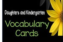 Vocabulary Cards / 3.5 x 6 Illustrated Word Cards for word wall, pocket chart activities, centers, vocabulary, and anchor charts.  Polka Dot and Chevron printables.  Sets for Winter, Valentines Day, St. Patricks Day, Spring, Ocean, Flowers and Plants, Fire Safety, Back to school, Fall, October, Halloween, Thanksgiving, Christmas, Math, Weather, Brown Bear, The Mitten, Number words, colors, and more.