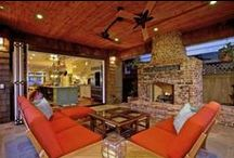 Outdoor Living / Spaces to enjoy at the first hint of Spring when everyone wants to be outside.