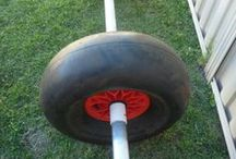 Beach Catamaran Wheels-Sand Wheels Large / Get Your boat to the water faster- supplier of Beach Wheels 4 You Cat. http://beachcatsaustralia.ning.com