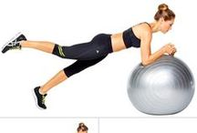 Ball Workout Moves / Tone it, shape it, lift it, lose it on the ball.  Try adding these #exercise ball moves to your workout routine!