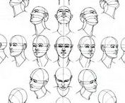 Draw Head/Face / How to draw heads and facial features