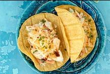 Recipes | Mexican Food / Mexican Recipes - Tacos, Enchiladas, Tortilla Soup, salsas and guacamole recipes. Includes cocktails like Margaritas and Sangrias. / by Miss Information
