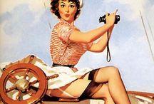Classic Pinup Illustration / Classic Retro pinup illustrations