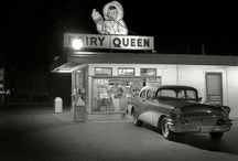 Faded Highways / An ode to road trips, before the interstates were born. Diners, cafés, restaurants, motels, hotels, auto camps, gas stations, tourist traps, U.S. Highways, back roads, abandoned today, mid century travel via automobile etc, etc.  / by Sarah Owens