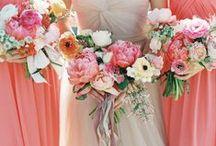Peach and coral weddings / by Wedding Wonderland