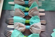 Bow Tie baby shower theme