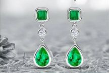 Emerald Earrings & Studs / Cleopatra's gem of choice & official May birthstone brilliant green emerald is seen a symbol of lasting love. From Angelina Jolie to Beyonce all celebs love to flaunt bright and bold emerald earrings. Have a look at some of the best emerald earrings from Angara.com  / by Angara.com Jewelry