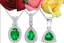 Emerald Pendant Necklaces / Emerald is simply a show-stopper with many celebrities flaunting it on the red carpet. Here are some of the most beautiful emerald pendants for an extensive collection of Angara.com.  / by Angara.com Jewelry