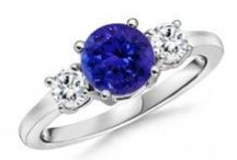 Tanzanite Rings / Rings showcase the beauty of Tanzanite at its best, and an engagement ring with this gem is the best option for a unique, personalized keepsake that will keep on reminding your sweetheart of your love.  / by Angara.com Jewelry