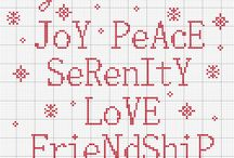 Cross Stitch Patterns / Various sewing patterns including typography and general images that could be used for cards, table cloths...