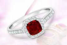 Red Ruby Love / Ruby Rings, Ruby Earrings and Ruby Pendants. Well-matched, hand-picked stones set in enduring metal reflect sophistication and elegance. For more information please call 1-888-926-4272 or email at customer.service@angara.com.