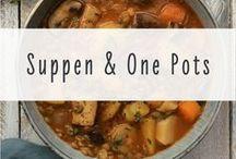 Suppen & One Pots: Veganes Soulfood im Herbst / Saisonale Rezepte für wärmende, vegane Suppen und Eintöpfe im Spätsommer und Herbst  Wenn eine Idee nicht vegan ist, mit Anmerkungen zu pflanzlichen Zutatenalternativen.