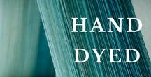 Hand-dyed yarn / Have you  ever thought about hand-dyeing your own yarn? We have and it's a lot of fun. We love working with hand-dyed yarn. You can choose your favourite colours, mix and match them just the way you want. Here's a little inspiration and tips how to start dyeing your own yarn. Have fun!