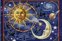 ۞ASTROLOGY AND BEYOND۞ / The study of the positions and aspects of celestial bodies in the belief that they have an influence on the course of natural earthly occurrences and human affairs. / by Claudia Drew-Parker