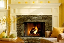 Homey Hearths and Hoods / Nothing creates a cozy, warm, and homey ambiance like a fireplace. From contemporary to traditional hearths, they are relaxing, inviting, and can stand alone as works of art. I love to decorate our fireplace for all the seasons and holidays, especially Christmas.