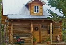 log cabins / by Wahnda Clark