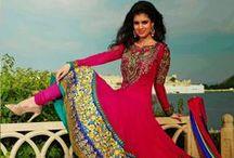 Salwar Kameez in Net and Chiffon / Indian Trendz designer Collection of anarakali suit, Punjabi suit, Chudidar suit, Pakistani salwar kameez in net and chiffon.