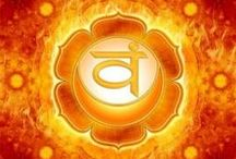 """༺༻SVADHESTHANA - I FEEL༺༻ / Sexual Chakra: """"Svadhisthana"""" Color: Orange Element: Water Mantra: Vam Meditation: I feel Affirmations: I am open to the world and flow easily with changes in my life. All of my thoughts and emotions flow harmoniously and my desires are perfectly balanced. Related to: Creativity, sexuality, and relationships Asana: triangle, revolved triangle, locust, cobra, bow, boat, cobbler's pose, cow face pose, pigeon, bridge (with tilts), seated forward bend (wide... / by Claudia Drew-Parker"""