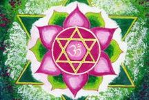 ༺༻ANAHATA - I LOVE༺༻ / Fourth Chakra: Heart.     Location: 2-3 inches above the solar plexus in the center of the chest. Function: Love center, it controls our unconditional feeling and thoughts, associations, relations and Compassion. Physically: It is responsible for the Heart, Circulatory and Respiratory systems. Symptoms of a blocked 4th chakra might include a heart attack, high blood pressure, insomnia and difficulty in breathing. ASSOCIATED COLOR: Green & Pink     ELEMENT: Air. / by Claudia Drew-Parker