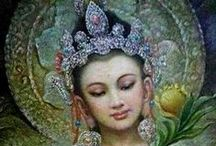 ♥*♥Qun Yin♥*♥ / Qun Yin is one of the most universally beloved of deities in the Buddhist tradition. She is the embodiment of compassionate loving kindness. / by Claudia Drew-Parker