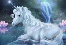 ☆*´¨`☽ UNICORNS☆*´¨`☽ / ☆*´¨`☽  ☆*´¨`☽Unicorns are pure white seventh dimensional horses who have returned to Earth for the first time since Atlantis to help us with our ascension. They are known as the purest of the pure and have qualities of love, peace, calm, gentleness, hope, majesty, caring, magic and mystery. They will come to you when you are ready, helping you too to develop your unicorn qualities. Diane Cooper.....☆*´¨`☽´`★.¸¸¸. •°´ ♡ / by Claudia Drew-Parker