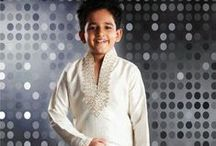 KIds Sherwani / KIds sherwani in boys wear dresses for indian festivals like diwali, eid available in Indian Trendz for child age 10-15.