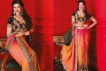 Wedding Sarees / Nice embroidery classic sarees with glamorous look. blouse of saree has nice craftsmanship which gives a royal look to saree.