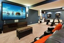 Mega Media Rooms  / As home entertainment technology continues to dazzle and impress,  today's Media Rooms rival a true theater experience--combined with the comforts and ready access of home.   / by New Home Source