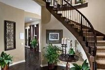 """Spectacular Staircases / Perhaps a modern-day Scarlett will race down these stairs in a scene reminiscent of """"Gone With the Wind."""" There's no denying it--we're fascinated by elegant staircases. New homes allow you to direct and star in your own staircase story!"""