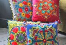 cushions + pillows