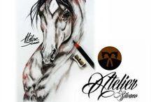 horses/ paarden / konie / Horses and Drawings. http://atelier-silvano-sebesta.nl/