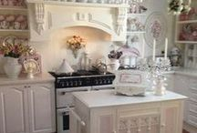 Country shabby chic kitchens
