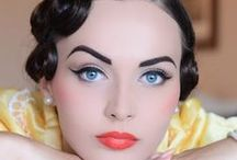 Retro looks / retro hair, makeup and nails